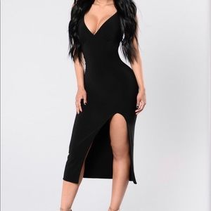 NWT! Spaghetti strap black dress